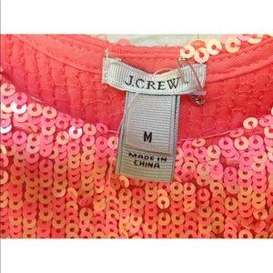 J. Crew Tops - J.Crew Size M. Orange Sequins Neck Dressy Tank